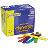 Chenille Kraft Jumbo-Sized Craft Sticks - Pack of 500 - Assorted Colors