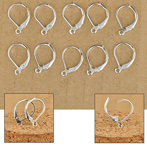 100 Pcs Imitation Rhodium Plated Hypo-allergenic Earring Hooks Nickel & Lead Free By Free Shipping (Nickle Free Earring Hooks compare prices)