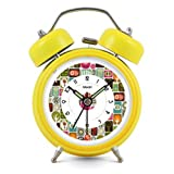 Modern Fashion Lovely Colorful Metal Alarm Clock Yellow 971