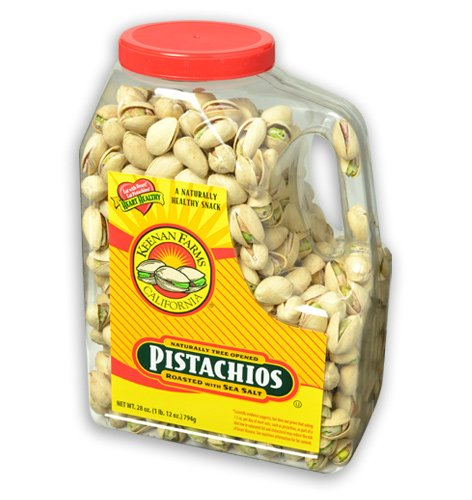 Keenan Farms In-Shell Pistachio, Roasted with Sea Salt,  28-Ounce Jars (Pack of 2)