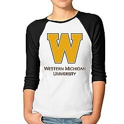 MYYMING Women's Central Michigan University Logo Normal Fit Half Sleeve Tee