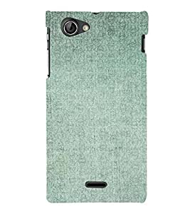 PrintVisa Faded Green Pattern 3D Hard Polycarbonate Designer Back Case Cover for Sony Xperia J ST26i