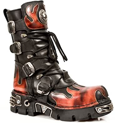 Amazon.com: New Rock Boots Unisex Style 591 S1 Red: Shoes
