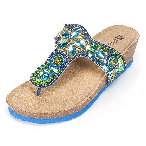 13. White Mountain Women's Brightspot Wedge Sandal