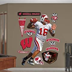 Buy NCAA Wisconsin Badgers Russell Wilson Wall Graphic by Fathead