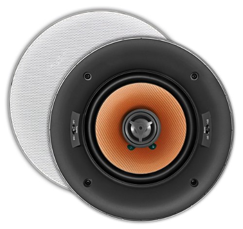 Osd Audio Ace640 6.5-Inch 150-Watt Trimless Thin Bezel Mica Filled Polypropylene In-Ceiling Speaker With Bass And Treble Switch, Pair