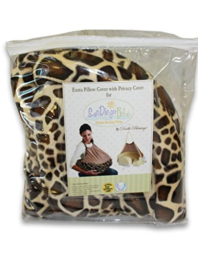 Extra Cover for San Diego Bebe Eco Nursing Pillow, Giraffe - 1