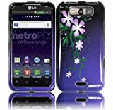 Cell Accessories For Less (TM) For LG Connect 4G MS840 LG Viper 4G LS840 Design Cover Case - Nightly Flower - By TheTargetBuys