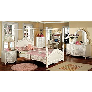 247SHOPATHOME IDF-7519T Childrens-Bed-Frames, Twin, White