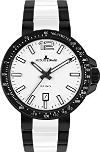 Jacques Lemans Men's 1-1711F Milano Sport Analog with HighTech Ceramic Watch