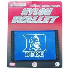 Buy Duke Blue Devils Nylon Trifold Wallet by Caseys