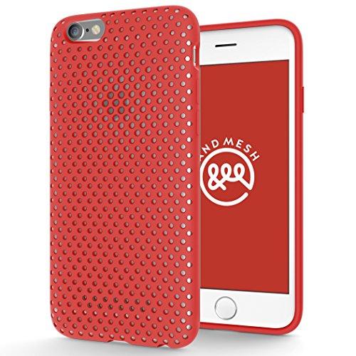 AndMesh iPhone 6s ケース メッシュケース レッド AMMSC621-RED