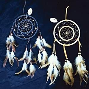 Dreamcatcher double ring with beads feathers for How to make a double ring dreamcatcher