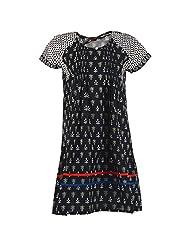 Karni Women's Cotton Black & White Kurti - B00VA9T5TC