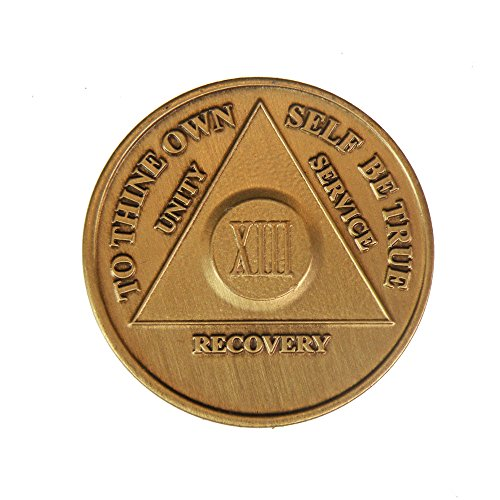 13 Year Bronze AA (Alcoholics Anonymous) - Sober / Sobriety / Birthday / Anniversary / Recovery / Medallion / Coin / Chip - 1