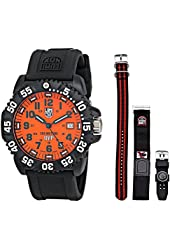 Luminox Men's 3059.SET Scott Cassell Specials Analog Display Analog Quartz Black Watch