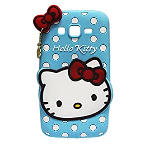 Hello Kitty Silicone With Pendant Back Case Cover For Samsung Grand 2 G7106