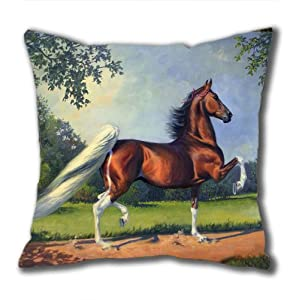 Illustration Painting Below Ram's Horn Standard Size Design Square Pillowcase/Cotton Pillowcase with Invisible Zipper in 40*40CM 16*16(527)-527107 from Square Pillowcase