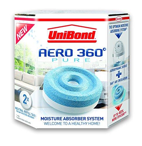 Henkel 1807921 - 2 recargas de humedad trampa Unibond Aero 360