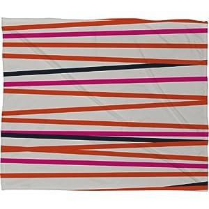 DENY Designs Khristian a Howell Crew Stripe Warm Fleece Throw Blanket, 40 by 30-Inch