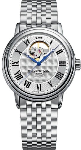 Raymond Weil 2827-ST-00659 0.5mm Silver Steel Bracelet & Case Anti-Reflective Sapphire Men's Watch