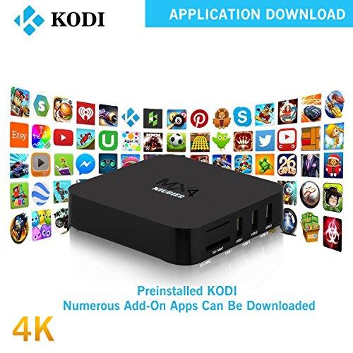 NIUBIER-Android-4K-Kodi-Preloaded-Wifi-Smart-Box-TV-Fully-Loaded-Streaming-Box-Streaming-Media-Player-TV-Show-Box-Sets-Black-Quad-Core-1G-8G