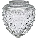 Clear Pineapple Glass Shade - 3-1/4-Inch Fitter Opening