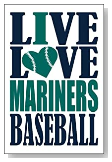 Live Love I Heart Mariners Baseball lined journal - any occasion gift idea for Seattle Mariners fans from WriteDrawDesign.com