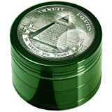 Grinder Black Leaf 4-tlg - In Weed We Trust - abriebfrei Ø50mm H36mm Crusher PatchouliWorld