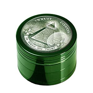 Grinder 4-piece - In Weed We Trust - abrasion-free, Ø50mm H36mm Crusher -PatchouliWorld