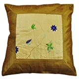 Rajrang Yellow Polydupion Embroidered Cushion Cover Set Of 5 Pcs #Ccs01456