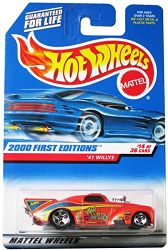 Hot Wheels 2000 First Editions '41 Willys #14 of 36 Alternate Card