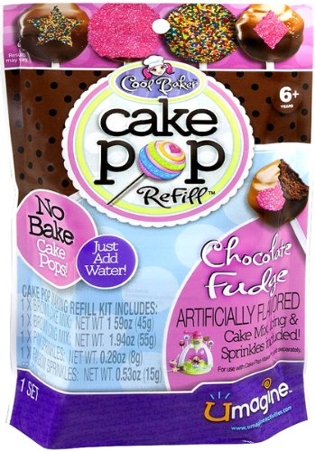 Cool Baker Cake Pop Maker Refill Chocolate Fudge