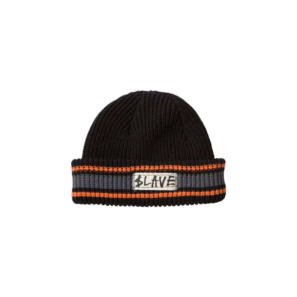 8b3c2cd4561c7 Slave Striped Beanie Black Grey Orange Skate Beanies on PopScreen