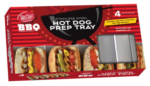 TableCraft BBQ48M Stainless Steel Hot Dog Prep Tray, Silver (Hot Dog Stainless Tray compare prices)