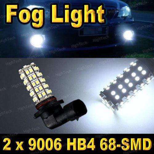 Pair Super White 9006 / 9012 / Hb4 68-Smd Led Headlight Bulbs For Driving Fog Light / Day Time Running Light Drl