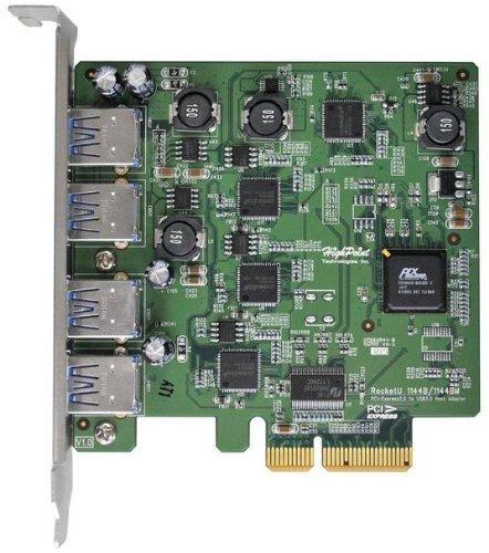 HighPoint RocketU 4-Port USB 3.0 PCI-Express 2.0 x4 HBA Controller RocketU 1144C Black Friday & Cyber Monday 2014