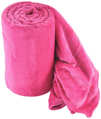 Sleeping Partners Ultra Soft Plush Blanket, Queen, Bright Pink