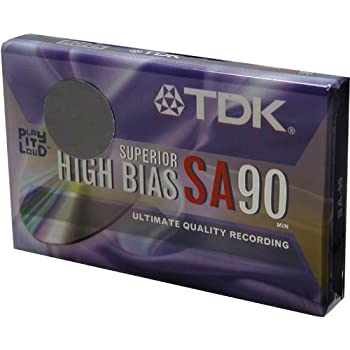 TDK SA 90 minute Super High Resolution Type II Audio Cassette Tape