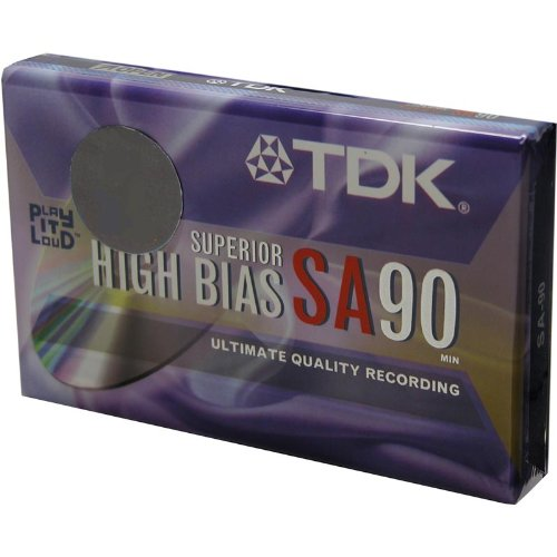 TDK SA 90 minute Super High Resolution Type II Audio Cassette Tape 0