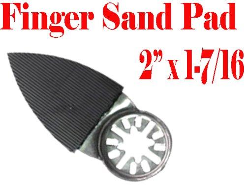 "2"" X 1.5"" Finger Detail Sanding Pad W/ Velcro Oscillating Multi Tool Saw Blades Sand For Fein Multimaster Bosch Multi-X Craftsman Nextec Dremel Multi-Max Ridgid Dremel Chicago"