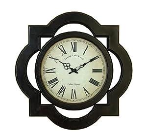 Wood Wall Clock Contemporary Black Modern Large