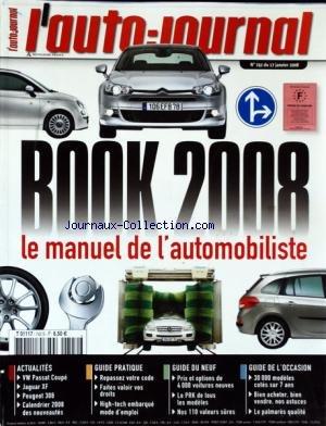 auto-journal-l-no-742-du-17-01-2008-book-2008-le-manuel-de-lautomobiliste-vw-passat-coupe-jaguar-xf-