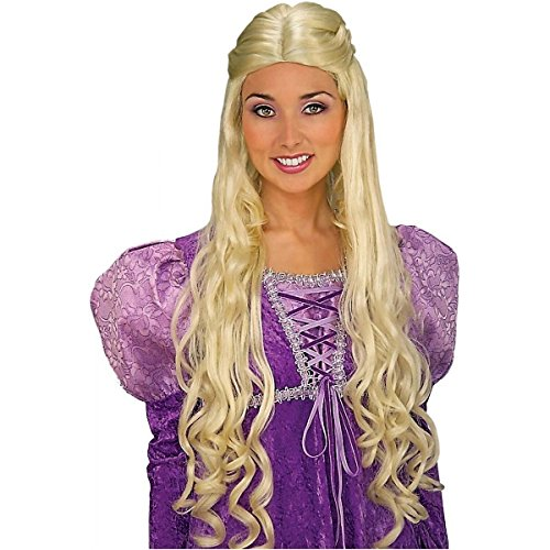 Renaissance Lady Guinevere Blonde Wig Medieval Costume Accessory Women Princess