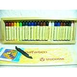 シュトックマースティッククレヨン 24色木箱 蜜蝋クレヨン あすつく
