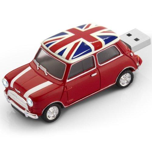 グリーンハウス USBフラッシュメモリ MINI Cooper型 4GB UK UFDMC-4GUK