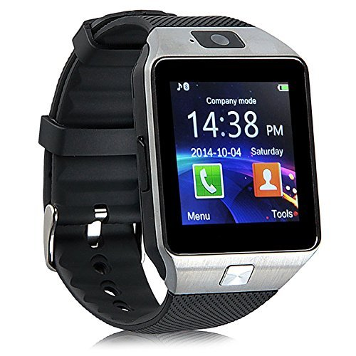 Padgene DZ09 Bluetooth Smart Watch with Camera for Samsung S5 / Note 2 / 3 / 4, Nexus 6, Htc, Sony and Other Android Smartphones, Black