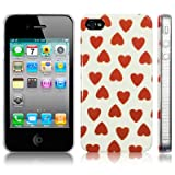 TERRAPIN LUXURY IPHONE 4 / IPHONE 4G QUEEN OF HEARTS BACK COVER CASE / SHELL / SHIELDby TERRAPIN