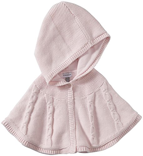 ABSORBA Baby Girls Newborn Cable Sweater Poncho Pink 12