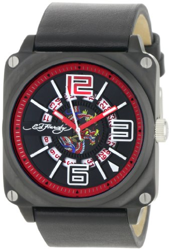Ed Hardy Men's SK-RD Slick Red Watch